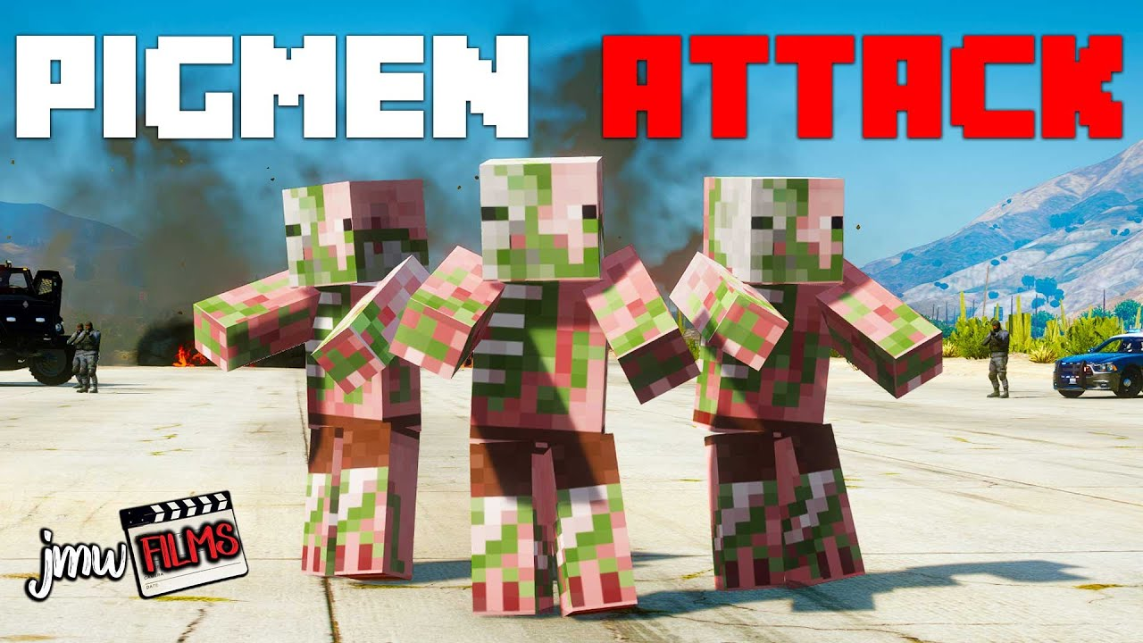 MINECRAFT ZOMBIE PIGMEN INVADE THE TOWN! | PGN # 277 | GTA 5 Roleplay