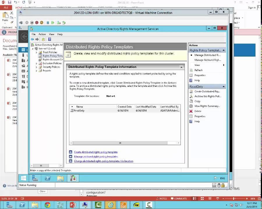 configure rms server 2012 r2 part3 by david papkin