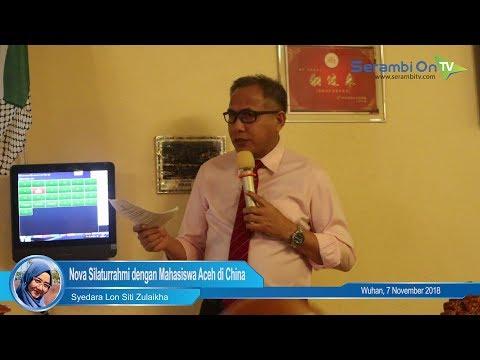 Usai Menandatangani MoU dengan Perusahaan China, Plt Gubernur Aceh Silaturrahmi dengan Mahasiswa Ace