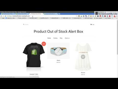Product Out of Stock Alert Box Shopify App