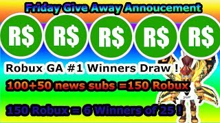 Robux Give Away winners - Comment for next week (Group link in desc) -Roblox
