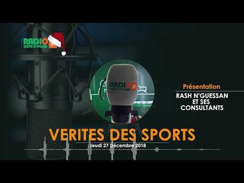 VÉRITÉS DES SPORTS DU 27 DÉCEMBRE 2018 - Radio CÔTE D'IVOIRE