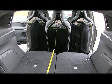 Tesla Model X rear cargo space