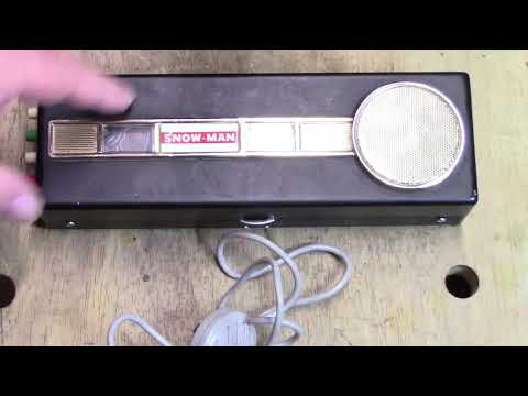 1960's Spy Tape Recorder - Explore the 1960's SNOW-MAN Rim Drive Reel To Reel Recorder!
