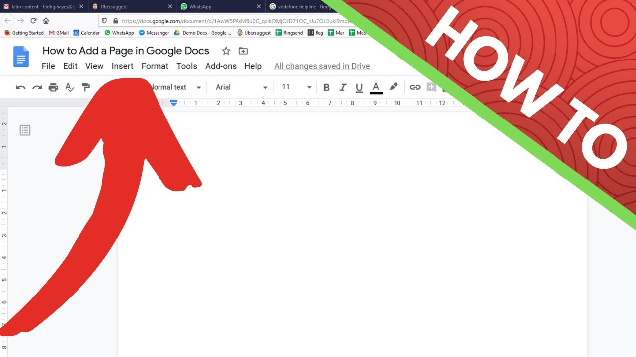 How to Add or Insert a (Blank) Page in Google Docs - YouTube