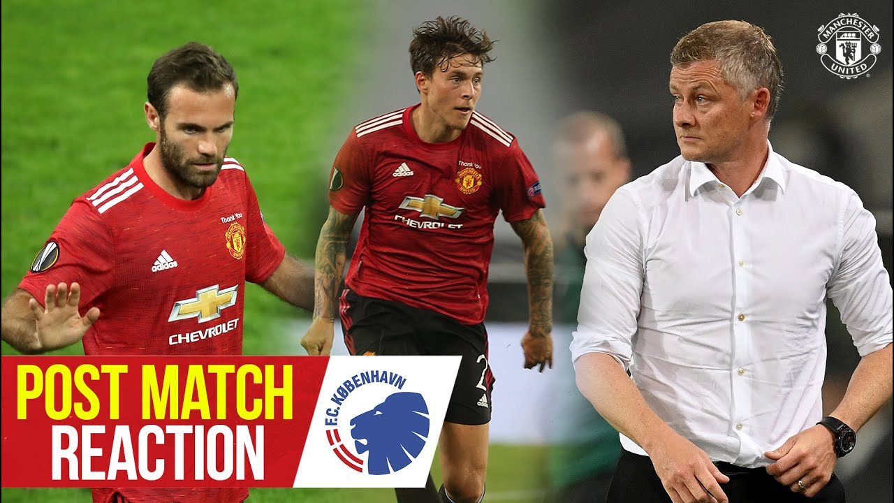 Solskjaer, Mata & Lindelof pleased to progress in Europa League | Manchester United 1-0 Copenhagen