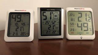 Thermometer Hygrometer comparison Thermopro VS AcuRite👍