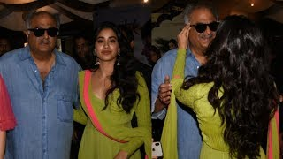 Sridevi's Daughter Jhanvi Kapoor Gets Emotional With Dad Boney Kapoor At Dhadak Trailer Launch