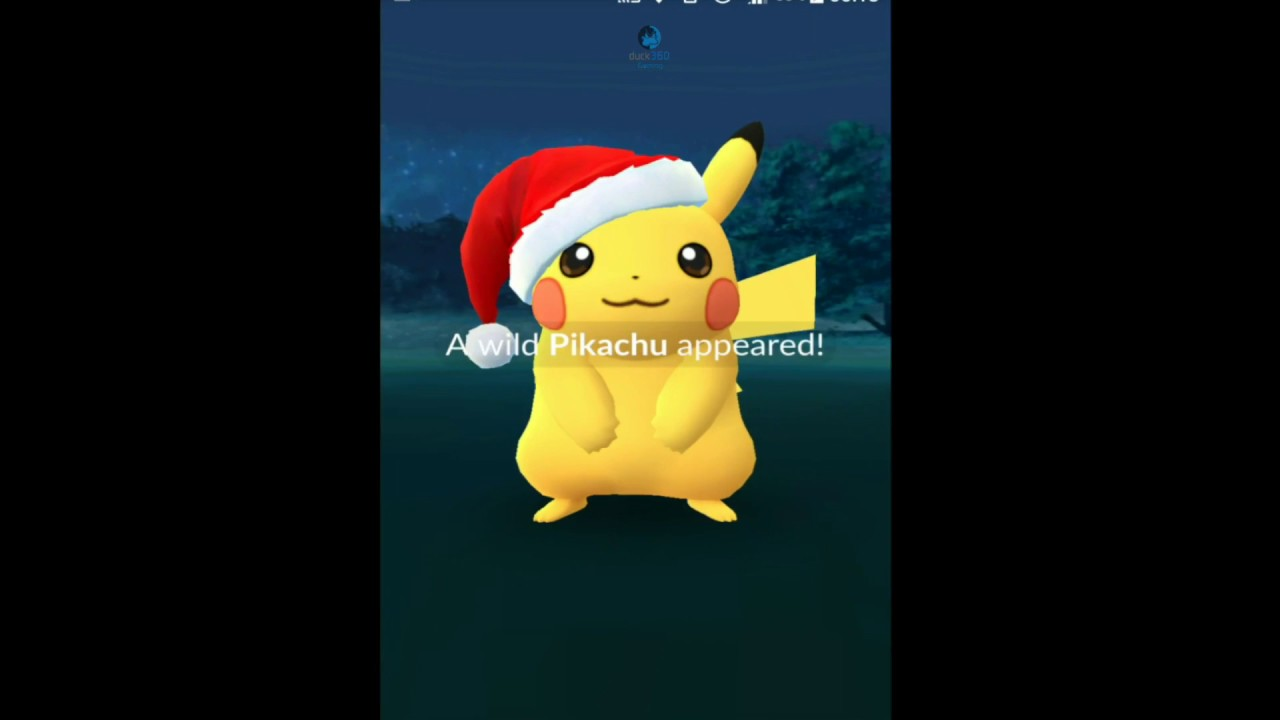 pokemon go caught a christmas pikachu raichu youtube - Christmas Pikachu