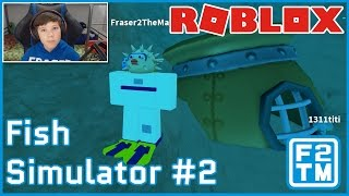 CLICK BAIT TITLE FOR FISH GAME GOES HERE!!! LOL Roblox Fish Simulator #2