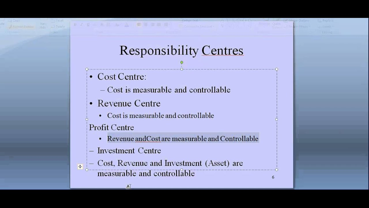 Responsibility Accounting.mp4 - YouTube