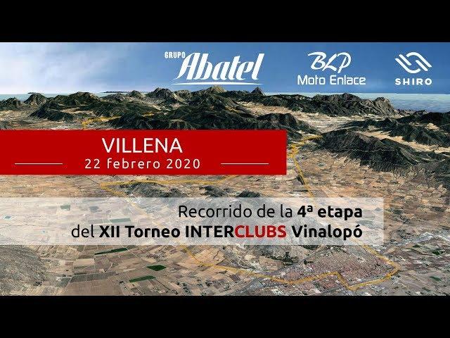 Villena. Cuarta etapa Interclubs Vinalopó 2020