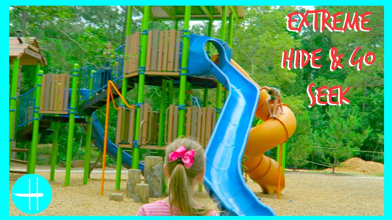 EXTREME CHALLENGE Hide Go Seek GAME PLAYGROUND Slides Games Contest Fun Friends Family Hopes Vlogs