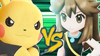 PIKACHU SOLO vs GREEN (Secret Trainer) in Pokemon Let's Go!