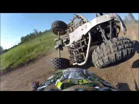 Table Top Raceway ATV Crash