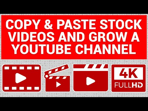 How to COPY & PASTE Stock Videos And Grow A YouTube Channel  (Make Money Online)