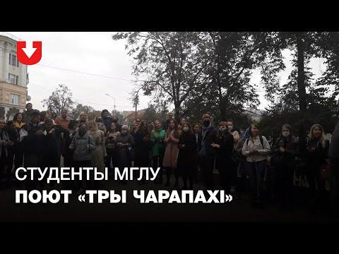 Студенты МГЛУ вышли на ежедневную акцию перед университетом