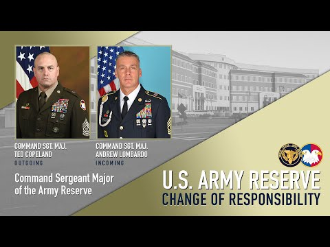 Army Reserve Command Sergeant Major Change Of Responsibility