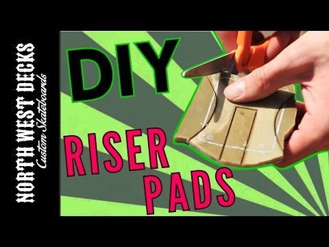 How To Make Riser Shock Pads For Your Skateboard!