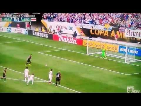 Clint Dempsey penalty kick Goal USA vs Costa Rica 1-0 6/7/16 Dempsey Gol Penal Copa America 2016