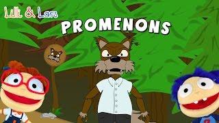 comptines françaises PROMENONS nous dans les bois - chanson avec parole francaise