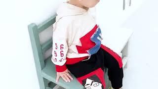 Детская повседневная одежда на осень костюмы для мальчиков и девочек с карманом капюшоном футболка