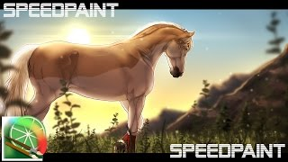 At the Lights   Speedpaint , Horse, How to draw