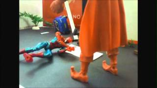 Spıder man vs hob goblin stop motıon