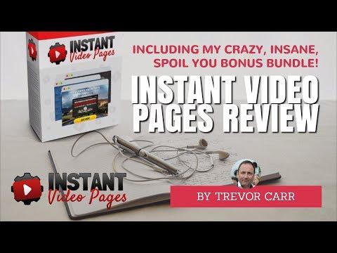 Instant Video Pages Review & Bonus Bundle