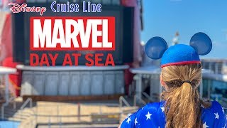 Marvel Day at Sea with Disney Cruise Day 1 | NEW! Sail A Wave Party! | Rapunzels Royal Table