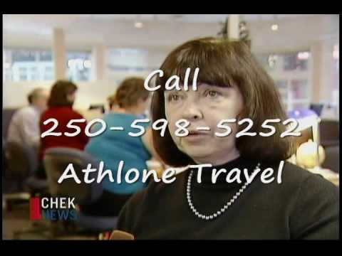 Athlone Travel featured on CHEK TV Dec 15, 2009