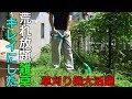 草刈り機で雑草を刈ってみた【裏庭】 の動画、YouTube動画。