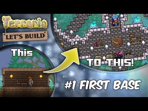 Terraria 1.3 Let's Build Series Ep1: Start with Style!   Terraria house design tutorial