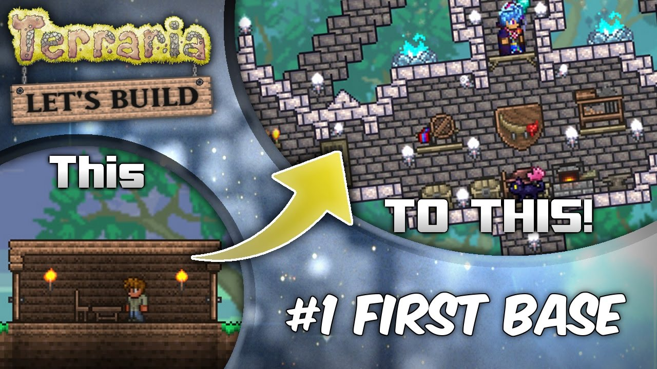 Terraria 13 Lets Build Series Ep1 Start With Style Terraria House Design Tutorial