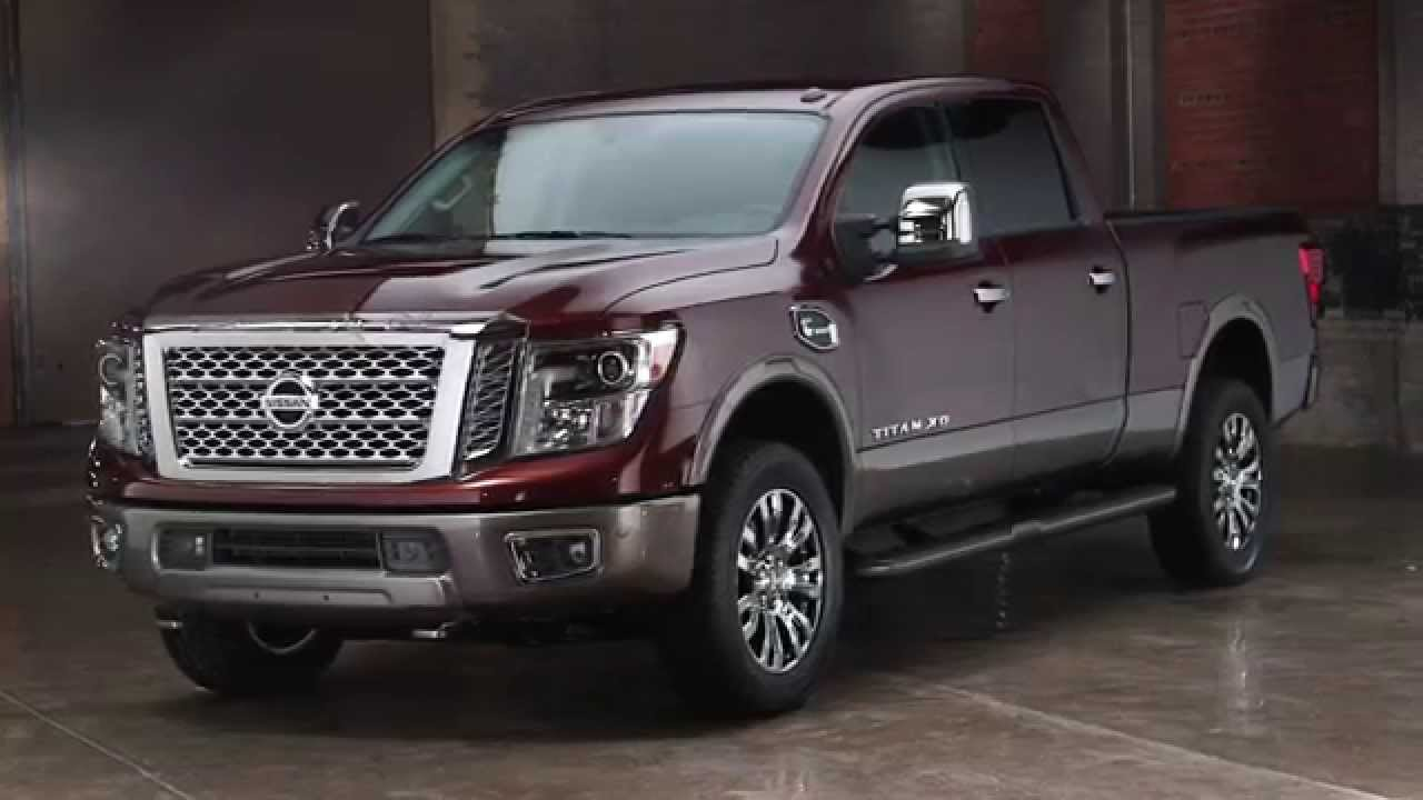 all new 2016 nissan titan full size pickup truck youtube. Black Bedroom Furniture Sets. Home Design Ideas