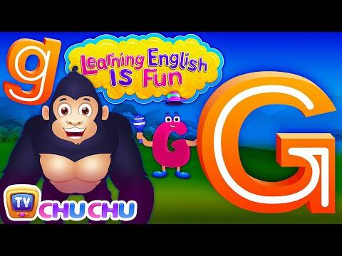 "Learning English Is Fun™   Alphabet ""G""   ChuChu TV Phonics & Words Learning For Preschool Children"