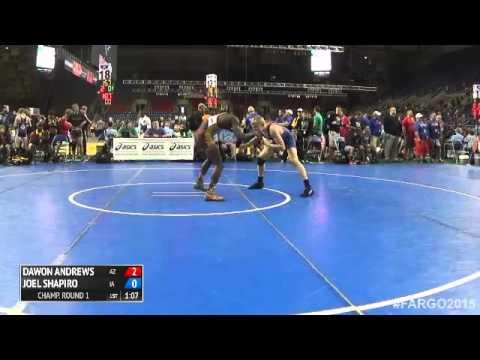 145 Champ. Round 1 - Joel Shapiro (Iowa) vs. Dawon Andrews (Arizona)