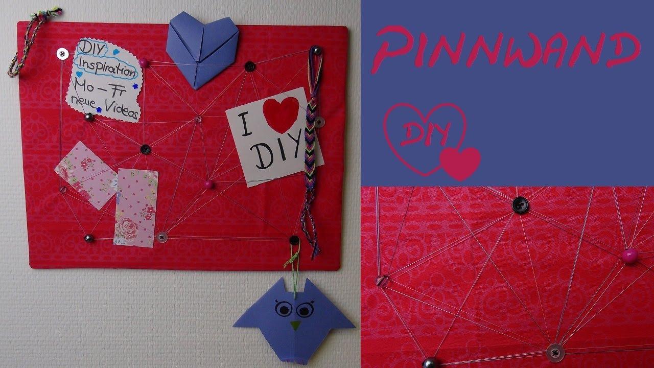 Diy pinnwand selber machen als geschenk als deko oder - Pinnwand selbst gestalten ...