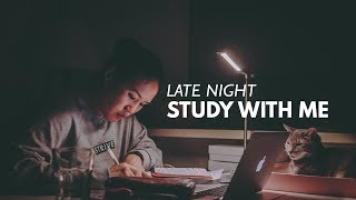 LATE NIGHT STUDY WITH ME | 2 hour pomodoro revision session (NO MUSIC)