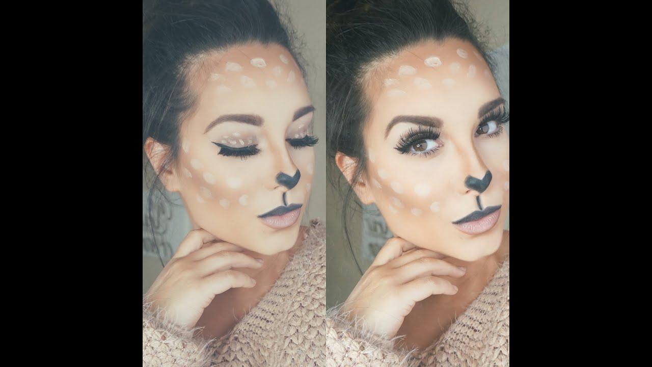 deer makeup   halloween   how to - youtube