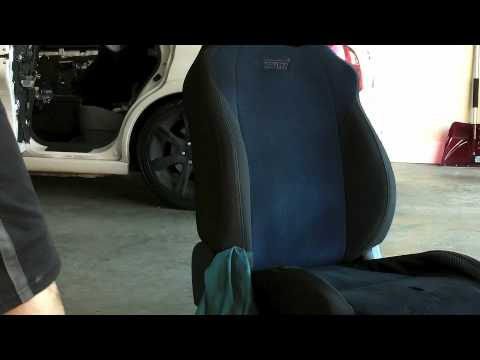 Tutorial Video - Painting subaru STI seats & door covers - YouTube