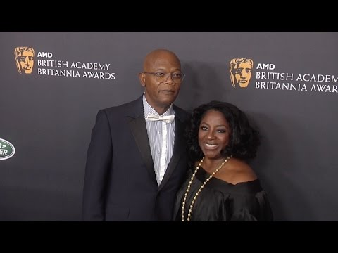 Samuel L Jackson & LaTanya Richardson Walk The Carpet 2016 Britannia Awards