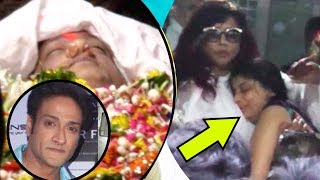 Inder Kumar's Wife Pallavi Saraf Gets Emotional And Cries At His Funeral