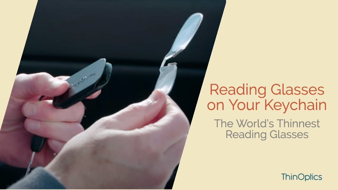 3bd4830b9901 NEW! ThinOPTICS Keychain with Reading Glasses - YouTube
