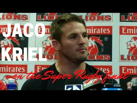 #SuperRugbyFinal Jaco Kriel on the final
