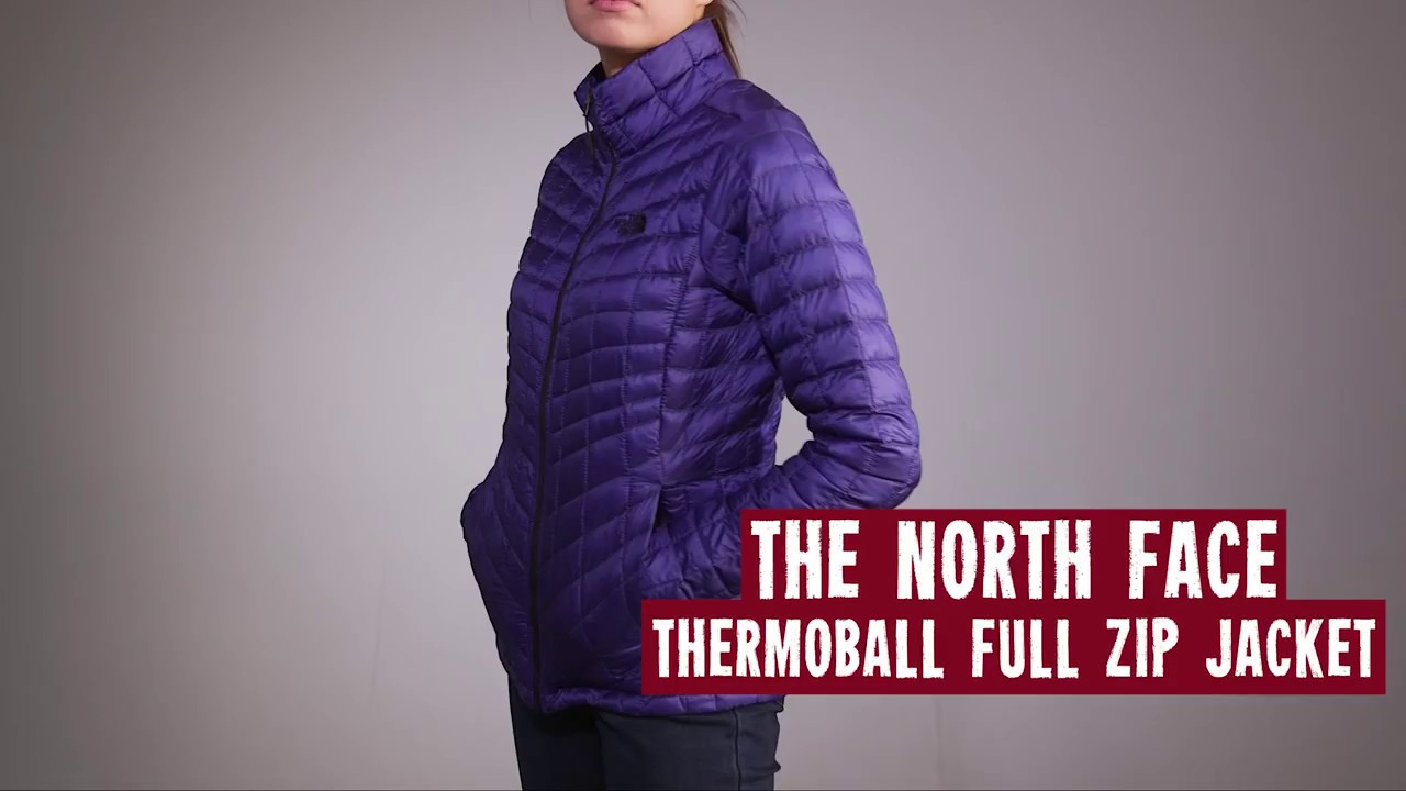 16a30e9d90 The North Face Women's ThermoBall Full Zip 2017 Review - YouTube