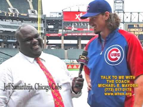 JEFF SAMARDZIJA, CHICAGO CUBS & COACH MAYDEN