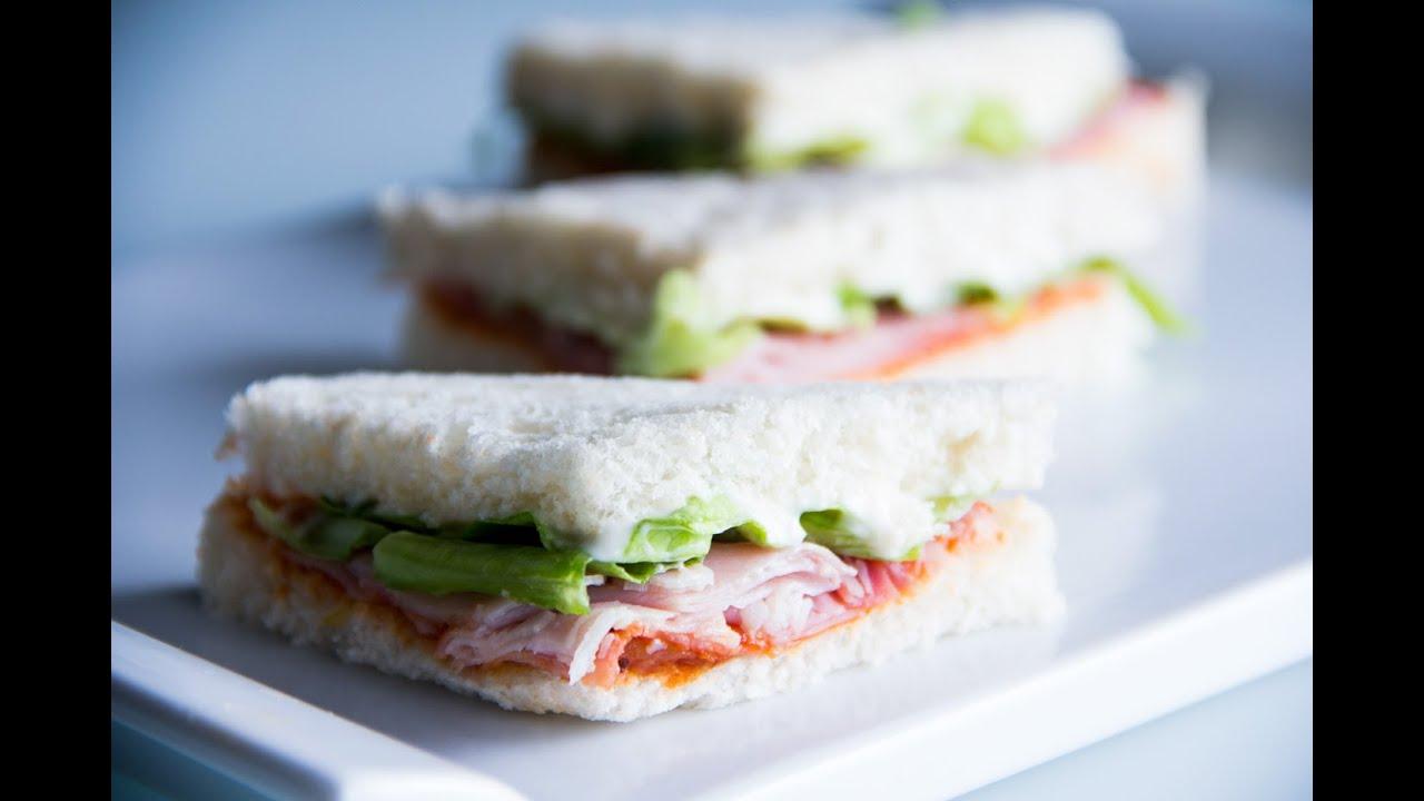 Sandwiches Vegetales Con Jamón I Comando Cocina