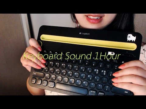 🍅 No Talking ASMR Keyboard Sound 1Hour :O
