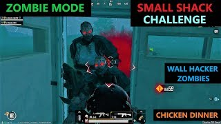 [Hindi] PUBG MOBILE | SURVIVING ZOMBIE MODE IN SMALL SHACK CHALLENGE & WALL HACKER ZOMBIES